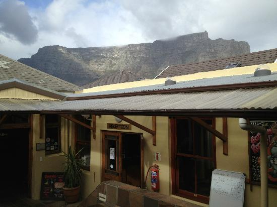 The Backpack: View of Table Mountain from Inner Court