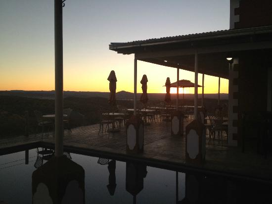 River Crossing Lodge: View towards Windhoek