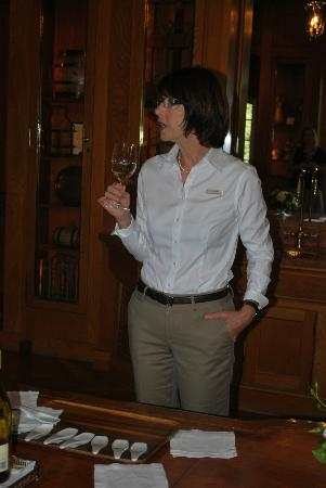 Jordan Vineyard & Winery: Our Hostess Linda