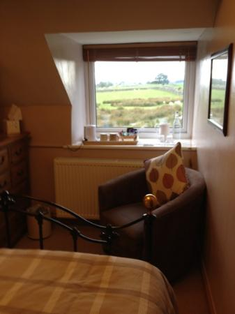 Llwyn Onn Guest House: View from bed in the morning, Mountain View Room