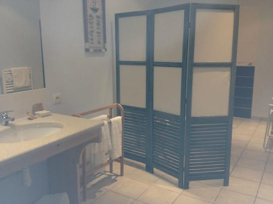Hotel La Galiote : La grande salle de bains