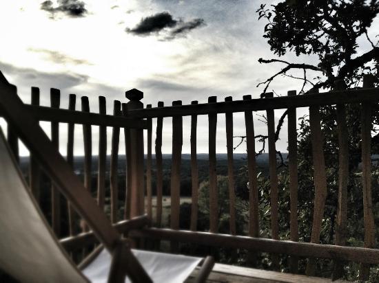 Chateau de Cantecor: terrasse de la la chambre