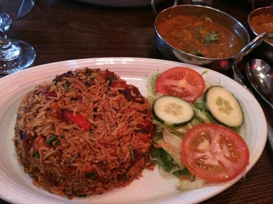 Mela Spice Fusion: mixed tikka biryani- tasted fantastic and loads of meat in it!