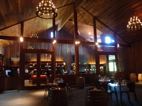 Lambert Bridge Winery: view into tasting area
