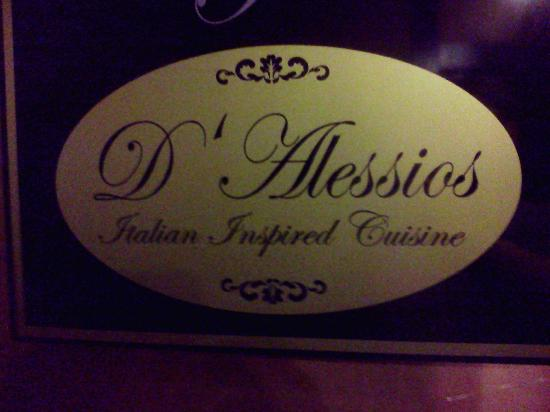D'Alessios: Sign on the door.