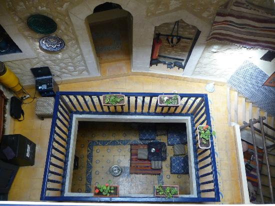 Riad Lunetoile: view down to floors below