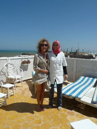 Riad Lunetoile: My wife Ulla with Kabira