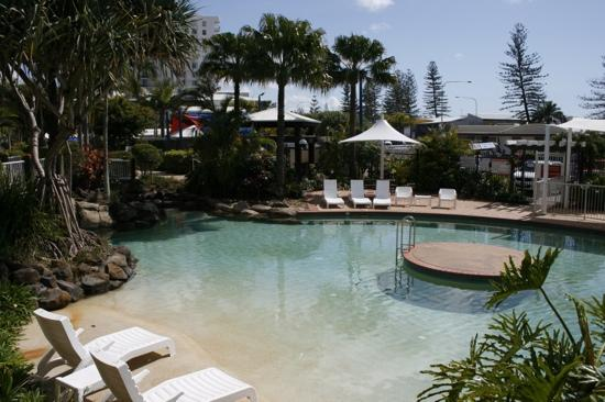 Breakfree Alexandra Beach Premier Resort: heated pool at southern end of lagoon pool