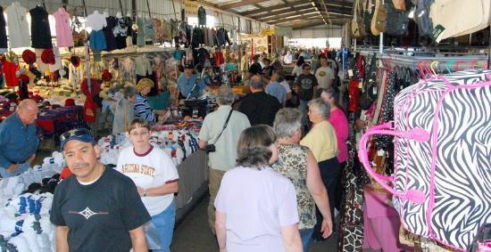 Mesa Market Place Swap Meet: Shop under covered breeezeways