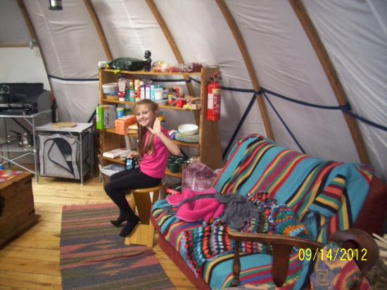 Larkhill Tipis and Yurts: Chillout area