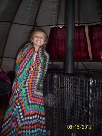 Larkhill Tipis and Yurts: 1st morning