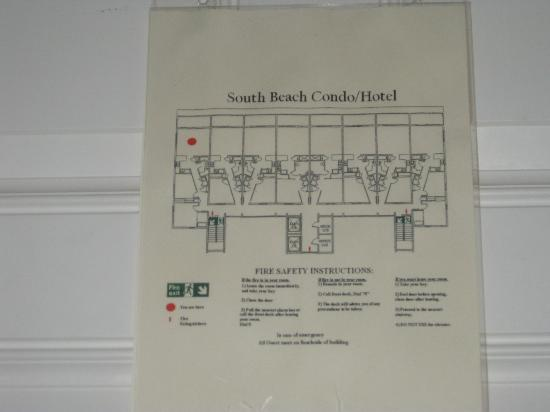 South Beach Condo/Hotel : Floor layout of rooms