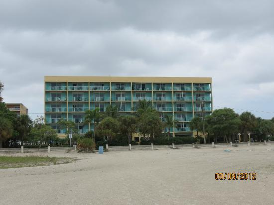 South Beach Condo/Hotel: View of condo from the beach