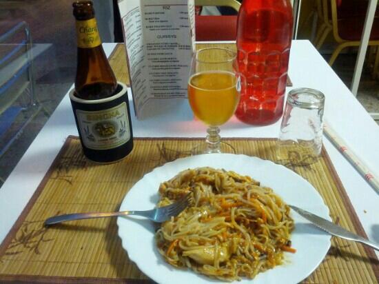 Chez Jasmine : pad thai au poulet