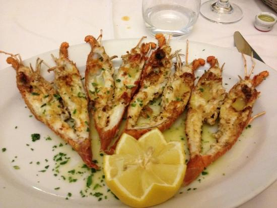La Taverna trattoria: Grilled little lobsters