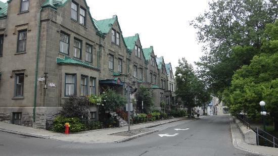 Hotel Manoir de la Terrasse: Rua do Hotel.