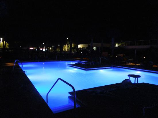 Marriott's Crystal Shores: pool at night