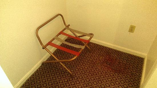 Relax Inn Altoona : There was a large stain on the floor near the luggage rack.