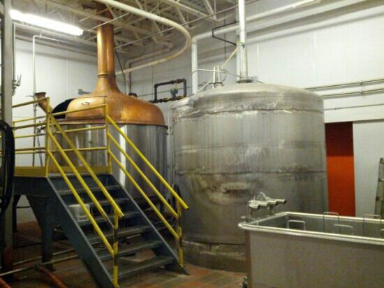 New Holland Brewing Company: The main brewing tanks