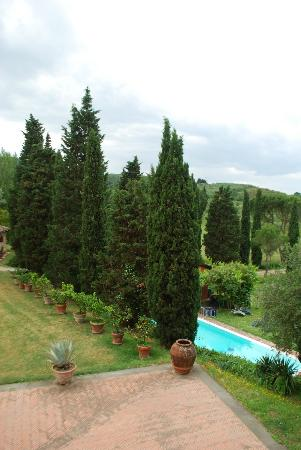 Florence House Rental - Villa I Cipressi & Villa Calcinaia: View from our rooms at Villa Calcinaia