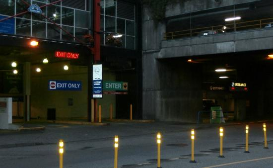 Lonsdale Quay Hotel: Actual hotel parkade entrance on left