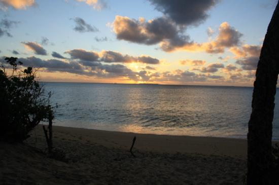 Captain Cook's Hideaway: sunset (view from the fale)