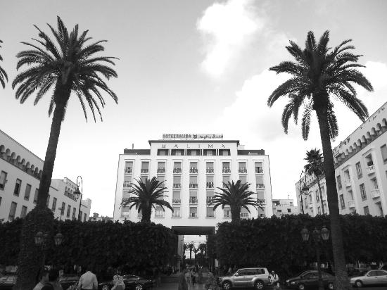 Hotel Balima: view of the Balima from the street and boulevard