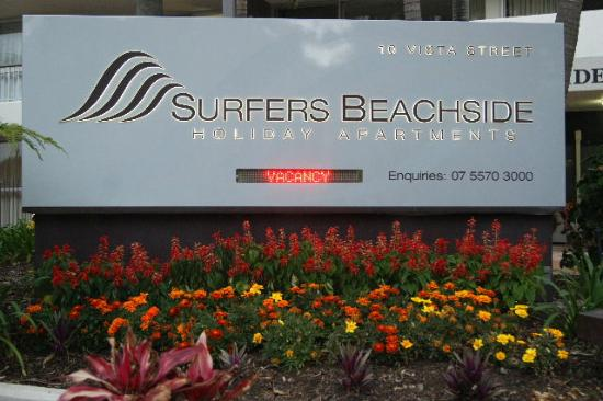 Surfers Beachside Holiday Apartments: Main sign