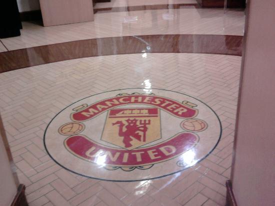 Old Trafford: shiny floor