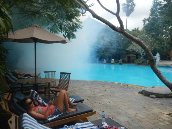 Hotel Kumala Pantai : Fogging at Kumala Pantai in July 2012 but we are still by the pool!