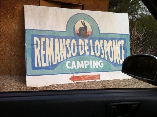 remanso de los ponce: entrada al camping