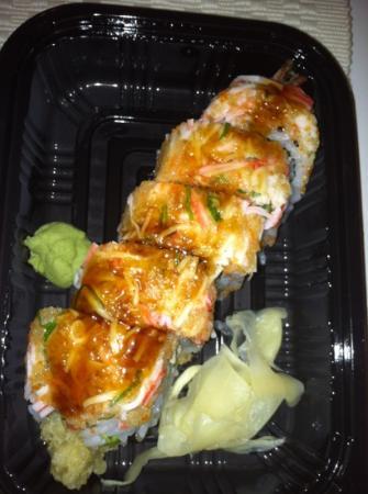Chen's Asian Restaurant : shrimp tempura roll (we added kani salad on top)