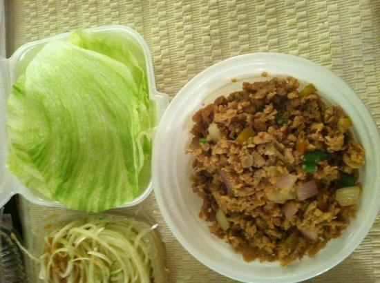 Chen's Asian Restaurant : chicken lettuce wraps (takeout)