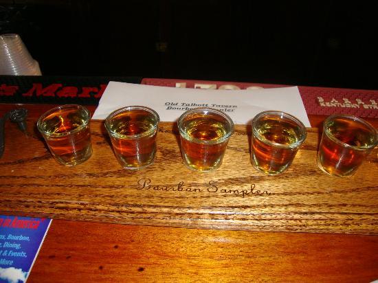 Old Talbott Tavern: Bourbon sampler