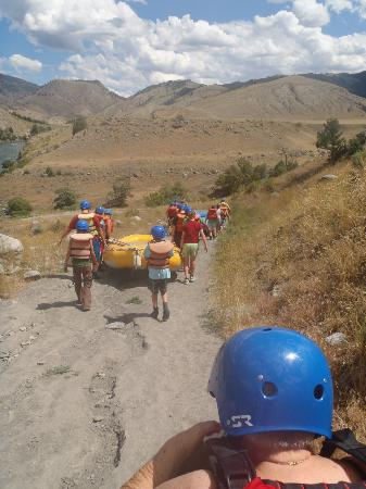 Montana Whitewater Rafting and Zipline on the Yellowstone River Day Trips: Montana Whitewater - down to the river