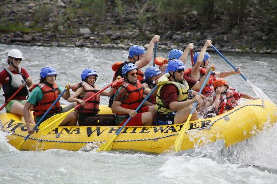 Montana Whitewater Rafting and Zipline on the Yellowstone River: Montana Whitewater
