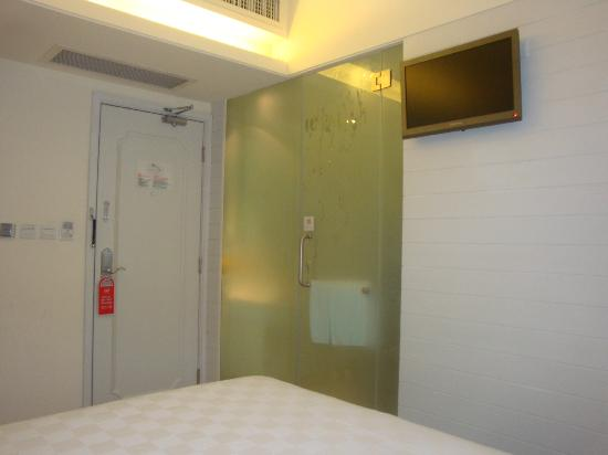 Ole Tai Sam Un Hotel: OLE Tai Sam Un: Bathroom with Semi-Frosted Glass
