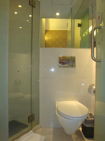 Ole Tai Sam Un Hotel: OLE Tai Sam Un: Toilet & Shower Stall in Standard Bathroom