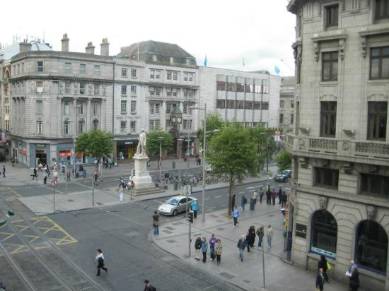Wynn's Hotel: O'Connell Street, from our room.