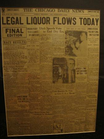 Oscar Getz Museum of Whiskey History: News article from Repeal