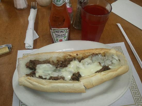 Maria's Restaurant and Pizza : My cheesesteak.... They come loaded but I ordeted it no sauce, no onions. Yummmmmm