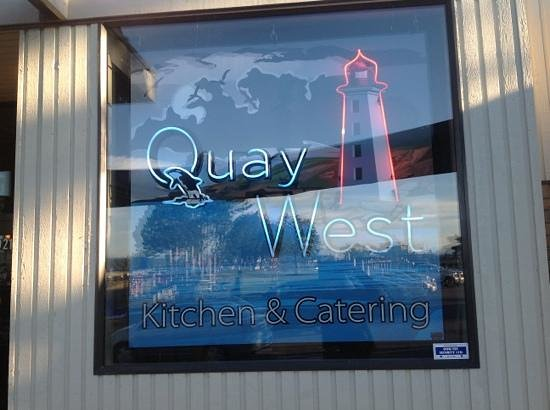 Quay West Kitchen & Catering: sign in entry