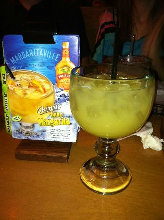 "Texas Roadhouse: This ""skinny"" margarita is just right a bit tangy & only 200 calories,  No salt?  Wasn't even as"