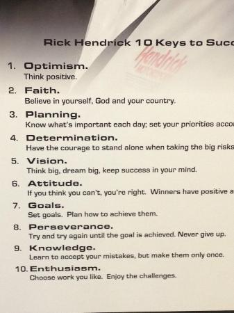 10 Keys To Success Picture Of Hendrick Motorsports