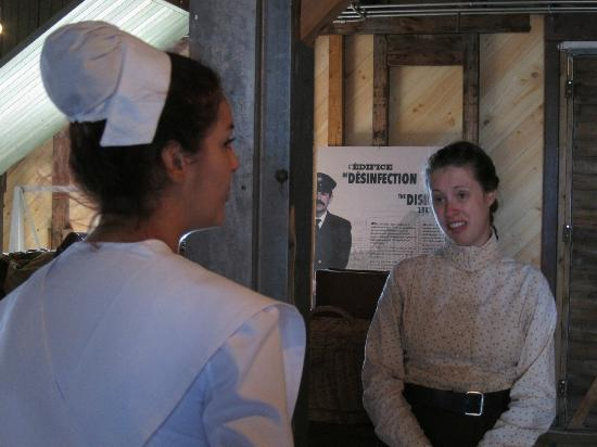 Grosse Ile: Miss Brown and nurse Beaudry
