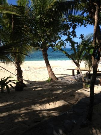 Beachcomber Island Resort: the view from our bure