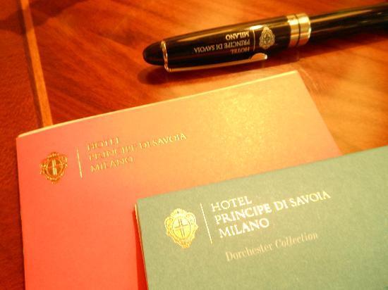 Hotel Principe Di Savoia: Pen and pad SEP2012