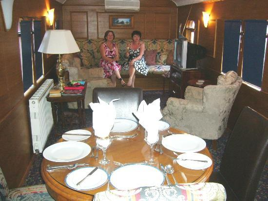 End of the Line Railway Accommodation: Dining & Lounge Area