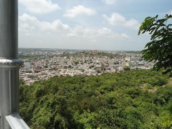 Taj Falaknuma Palace: a view from the terrace