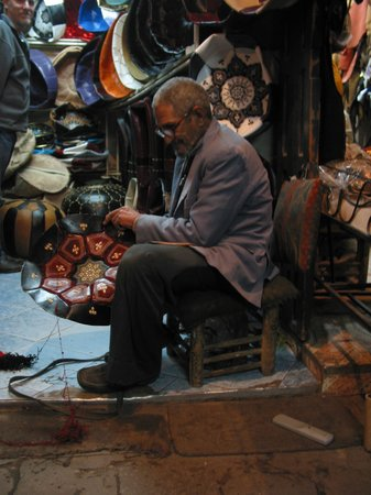Marrakech Guided Day Tours : We LOVED this man! And we love the pouf we bought from him.